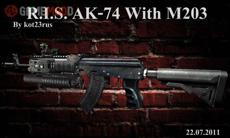 r i s ak 74 with m203 cs 1 6 skins weapons ak 47 gamemodd