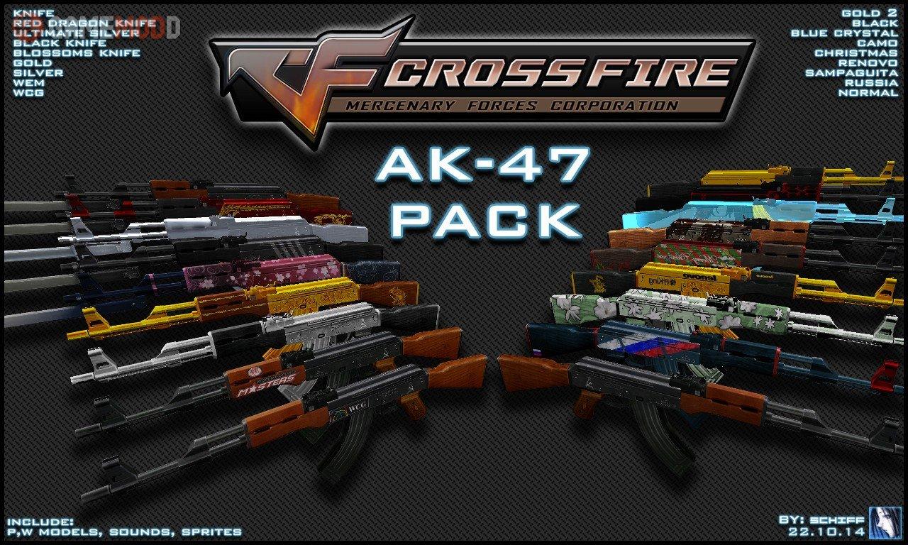 crossfire ak 47 pack cs 1 6 skins weapons ak 47 gamemodd