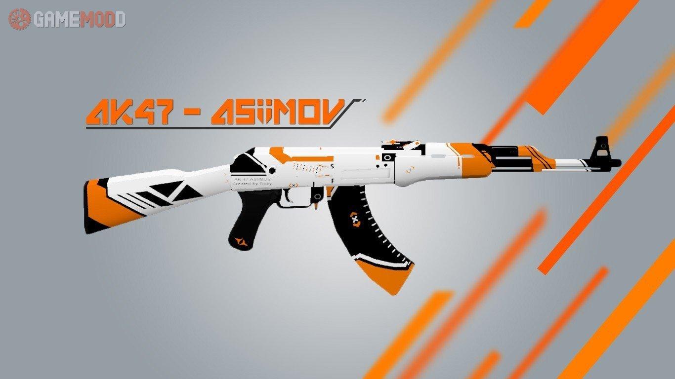 Cs go ak 47 asiimov cs 1 6 skins weapons ak 47 gamemodd - Awp asiimov cs 1 6 ...