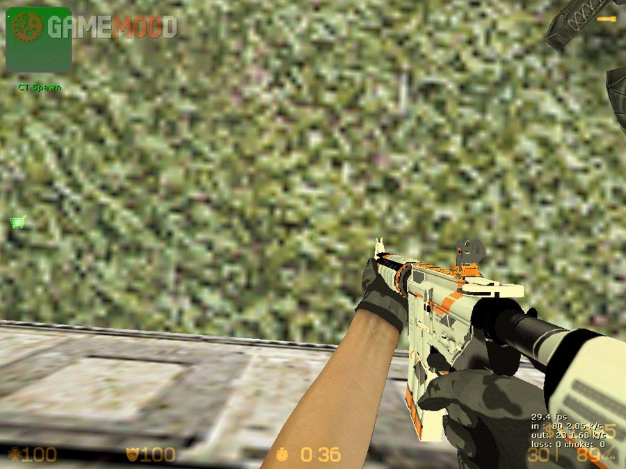 M4a4 asiimov cs 1 6 skins weapons colt m4a1 gamemodd - Awp asiimov cs 1 6 ...