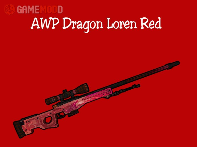 AWP Dragon Lore Red » CS 1 6 - Skins Weapons AWP | GAMEMODD