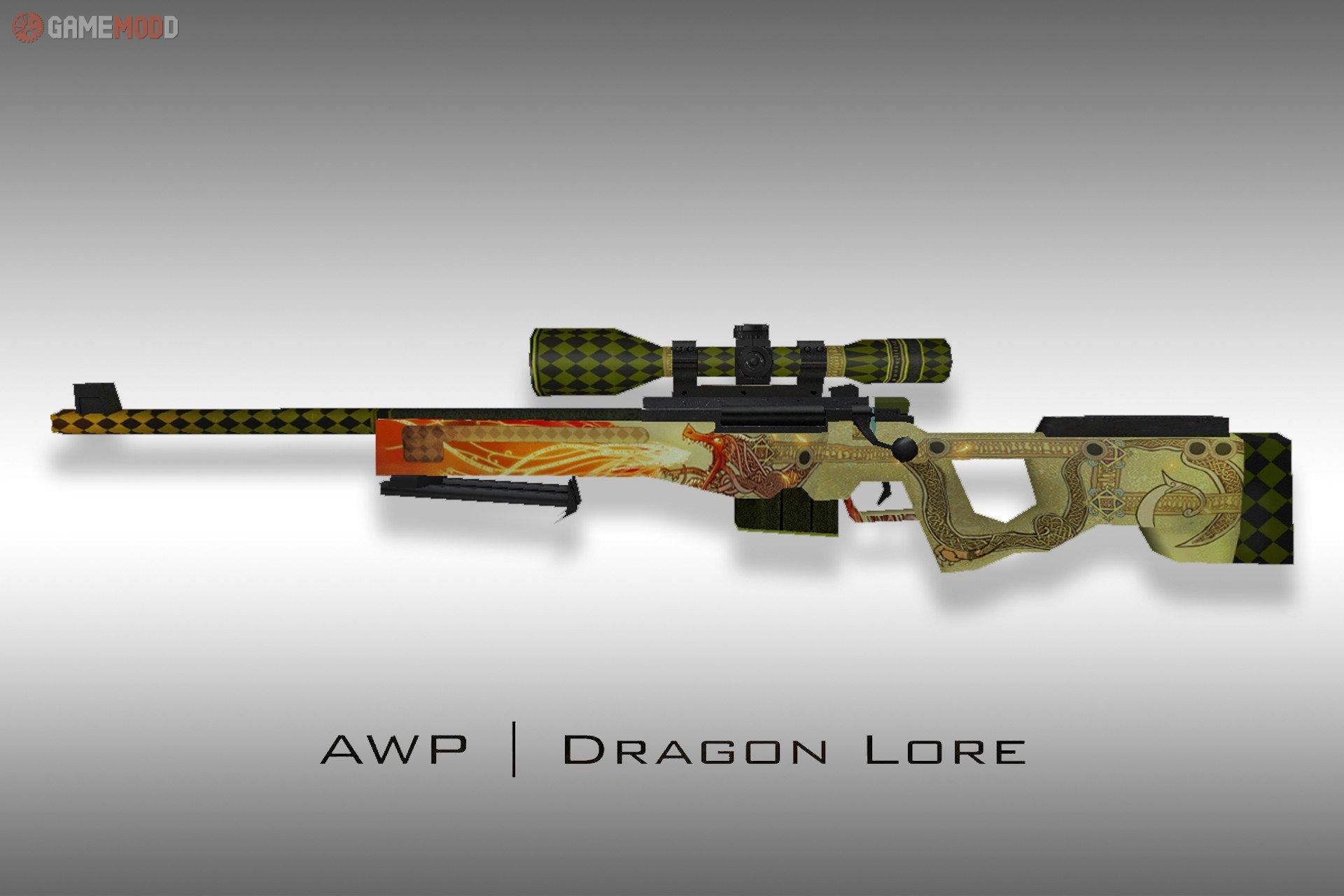 Default Awp Dragon Lore Cs 16 Skins Weapons Awp Gamemodd