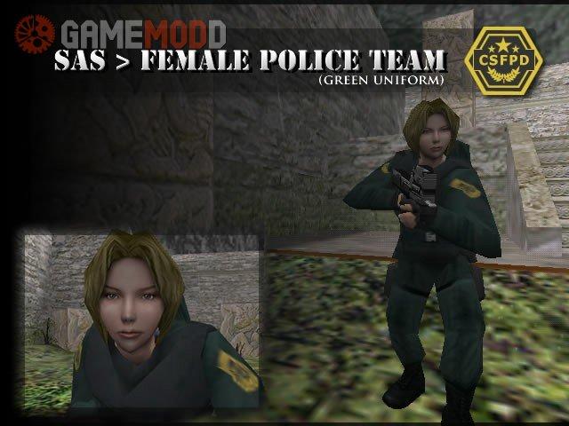SAS > Female Police (Green Uniform)