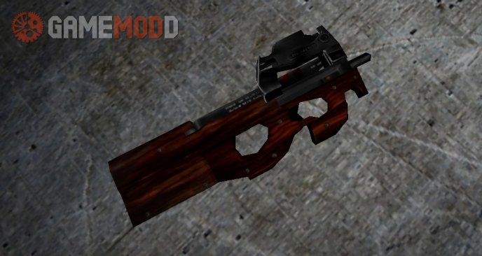 Wooden P90 On 3 Animations Pack