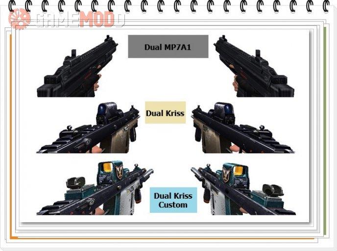 Dual MP7A1, Dual Kriss, Dual Kriss Custom