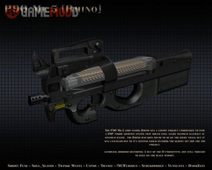 DarkElfa's P90 Mk.5 [Rhino] On Nanman's Animation