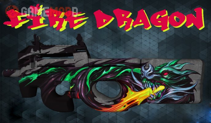 CSGO P90 Fire Dragon