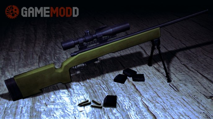 CadeOpreto's M40A3 with LazzR's lens and chrome