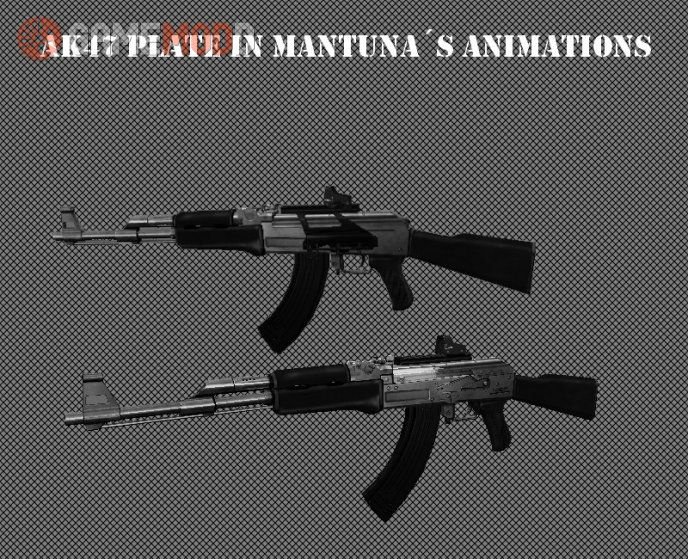 Ak47 plate on ManTuna´s animations