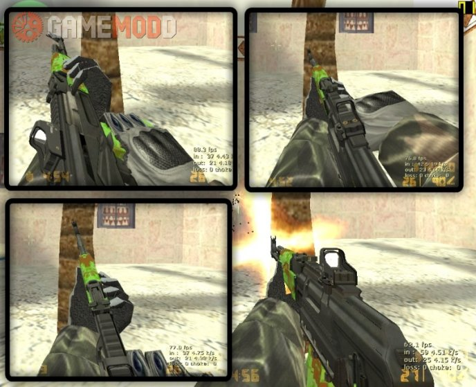MW2 Like Ak47 with camoflages