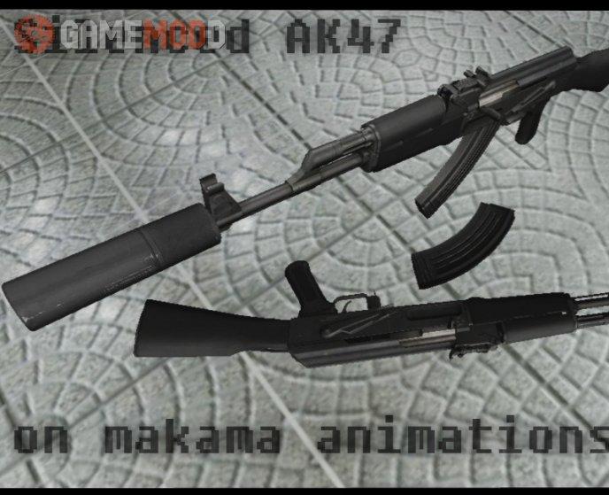 Twinke Masta Silenced ak47 on Makama anims