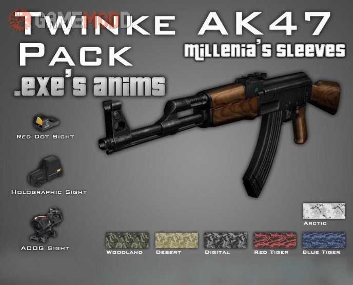 Ultimate AK47 on MW2 animations by .eXe