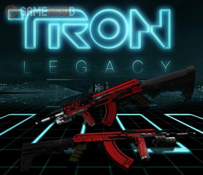 Chromed Red TRON AK47 w/ M900