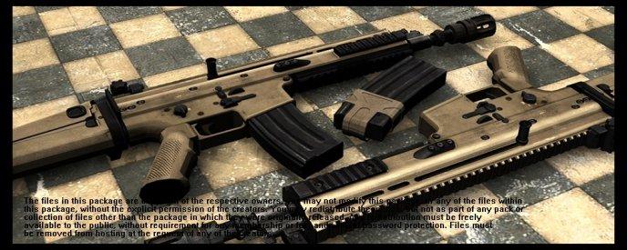 Battlefield3 SCAR-L Counter Strike 1.6