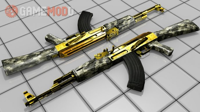 Golden and hexagon ak47