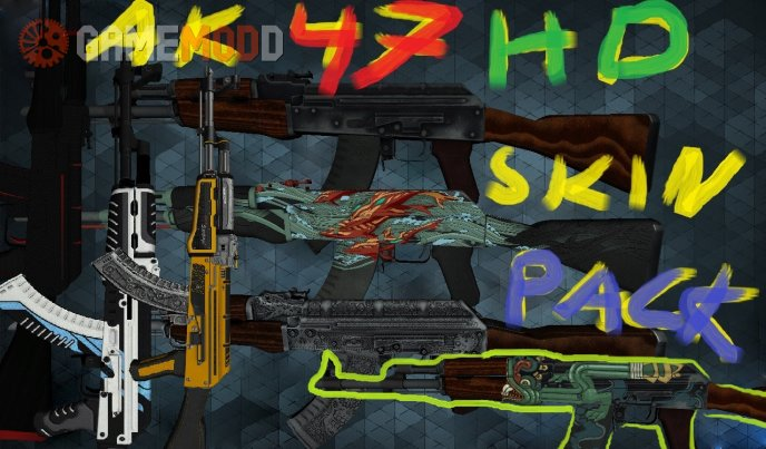 Ak 47 HD cs go Skin pack