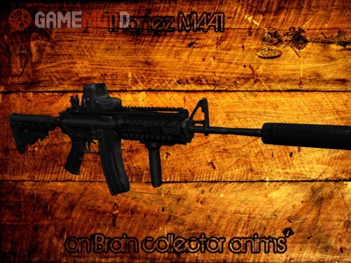 The Lama M4A1 on Brain Collector anims