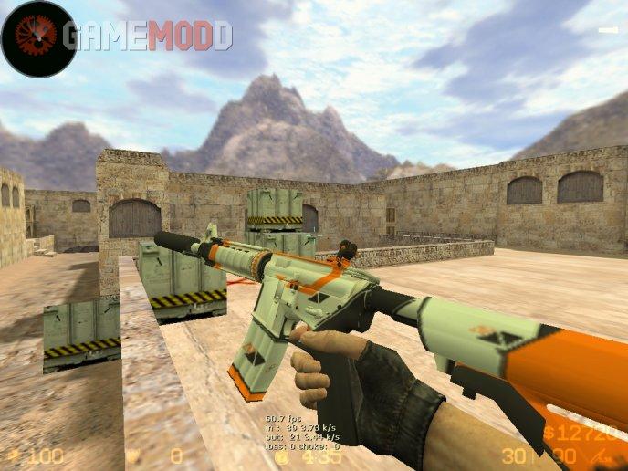 CS:GO M4A4 on CSS Hand