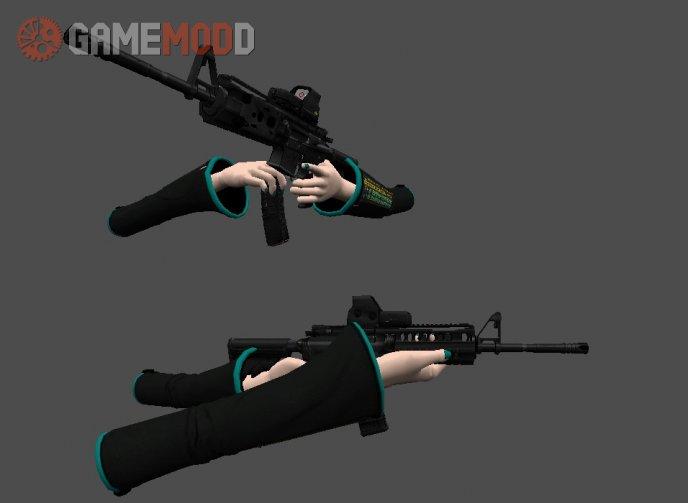 M4 SRIS on Mrbond123's Miku hands
