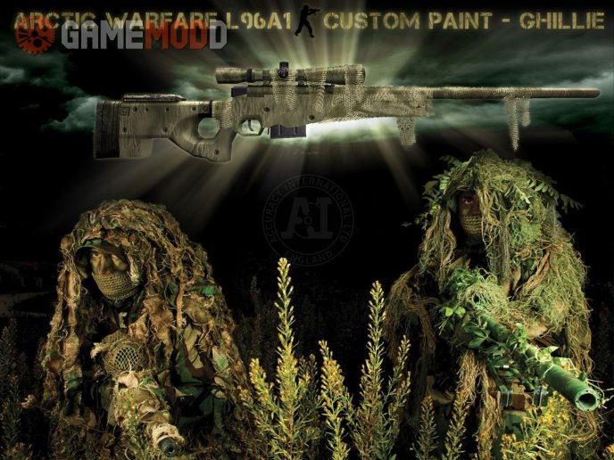 AI AW L96A1 Custom Paint Ghillie Retex