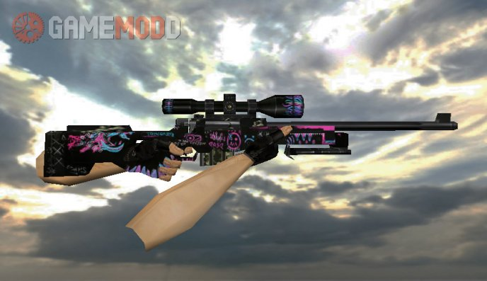 Default AWP with Fever Dream skin