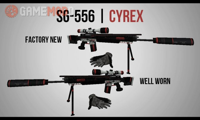 Sig SG-556 Cyrex (on Hyper3D's anims)