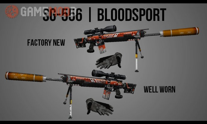 Sig SG-556 Bloodsport (on Hyper3D's anims)