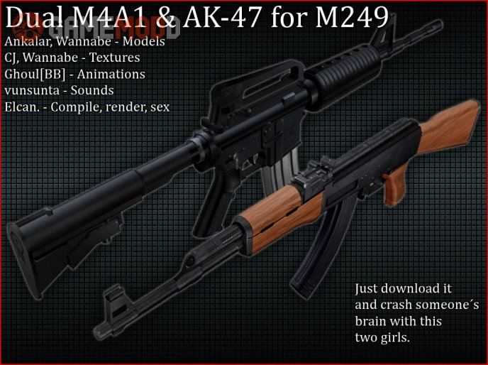 Dual Ak-47&M4A1 for M249=SEX