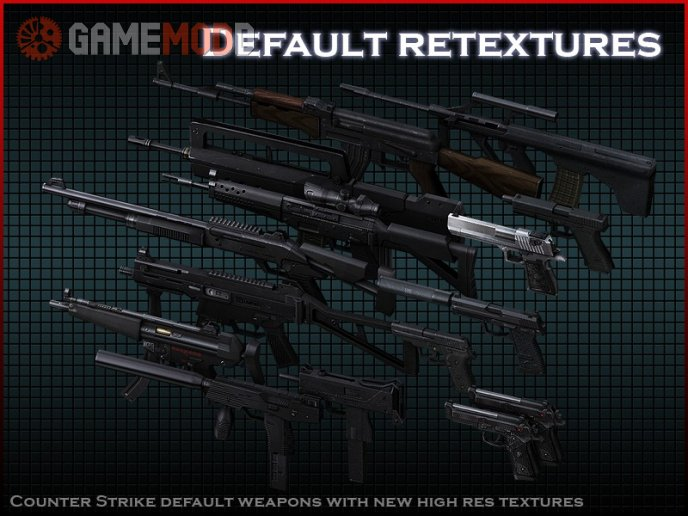 Default weapons retexture pack