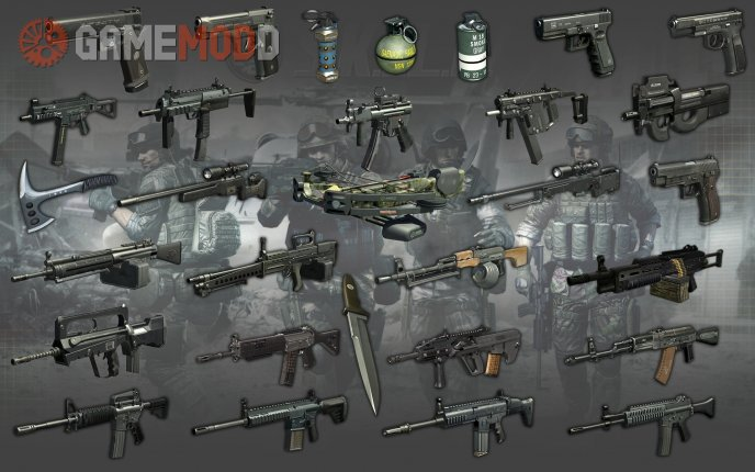 Soldier Front 2 Weapons Pack