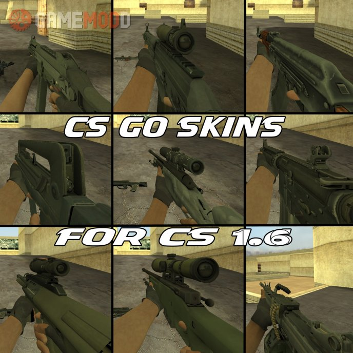 CS GO Skins Pack For CS 1.6 - Update #1