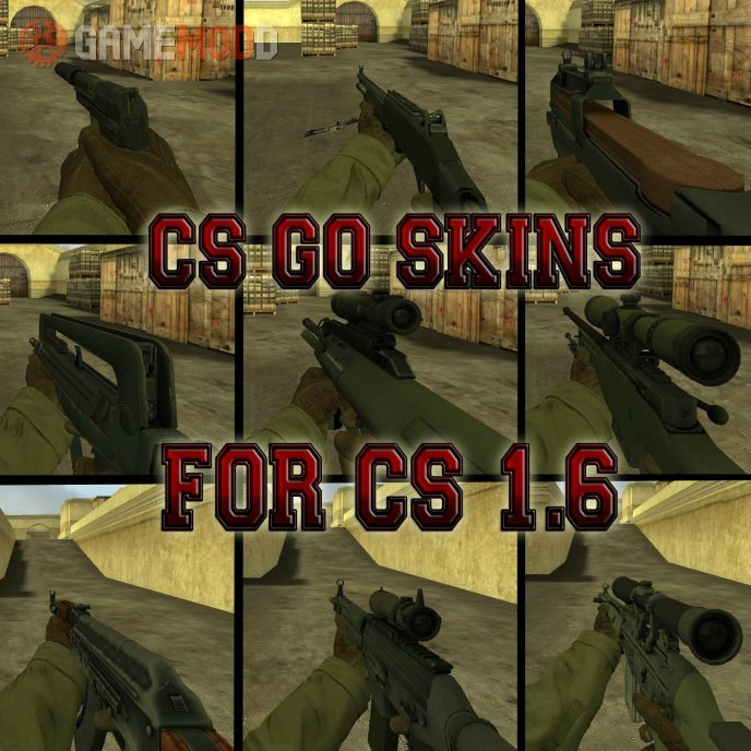 CS GO Skins Pack For CS 1.6 - Update #2