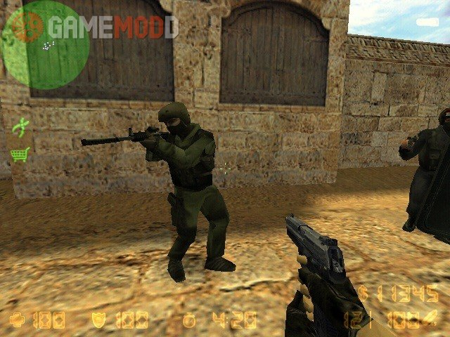 CS 1.6 CT and T players with CS BETA Textures