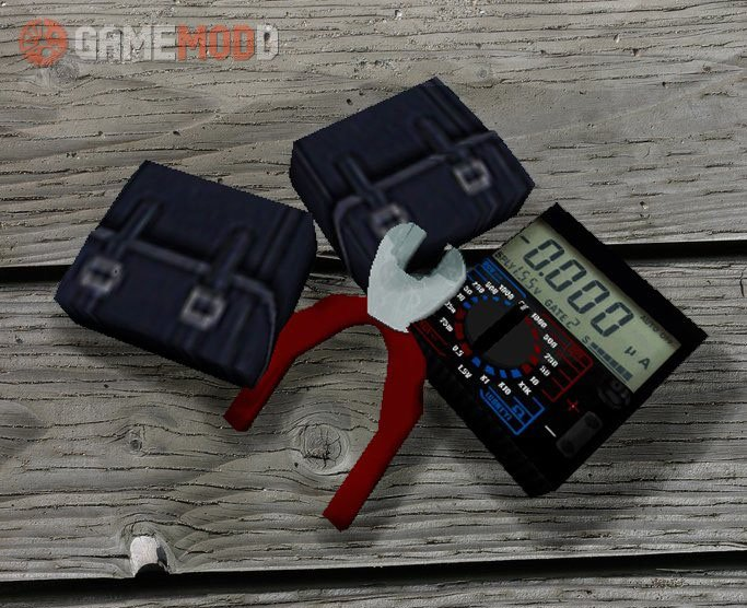 Defusal Kit with Cutters and Multimeter