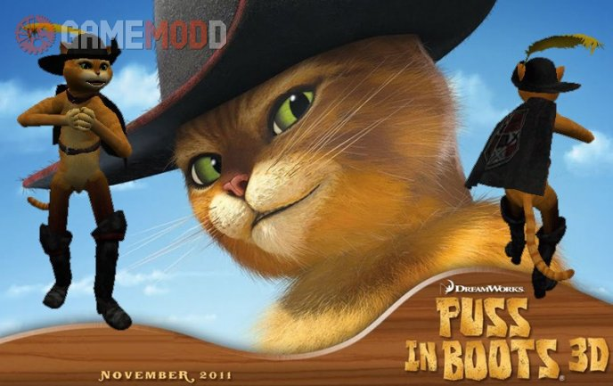 Puss In Boots (Shrek The Movie Style)