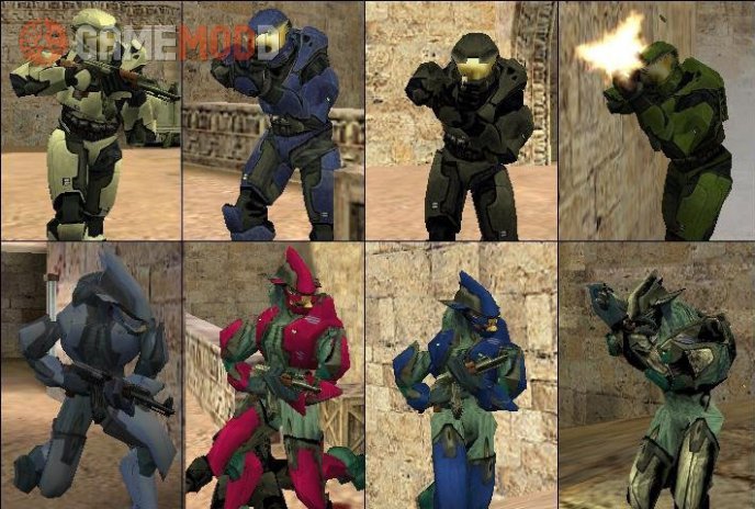 Halo player model - Spartan vs Elite