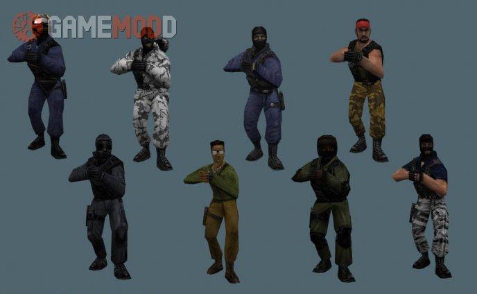 Exploding Headshot - Original CS Player Models