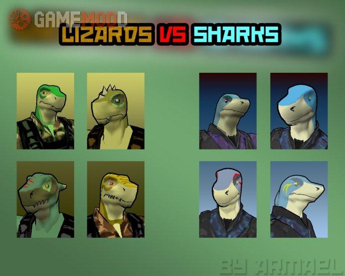 Lizards VS Sharks