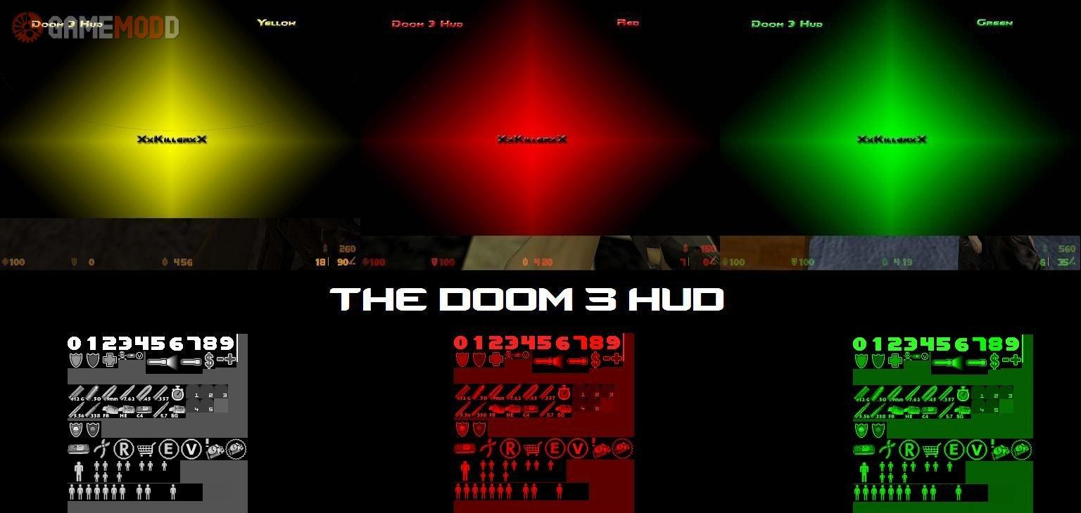 Doom 3 HUD » CS 1 6 - GUIs HUDs | GAMEMODD