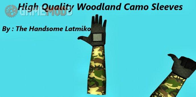 High Quality Woodland Camo Sleeves