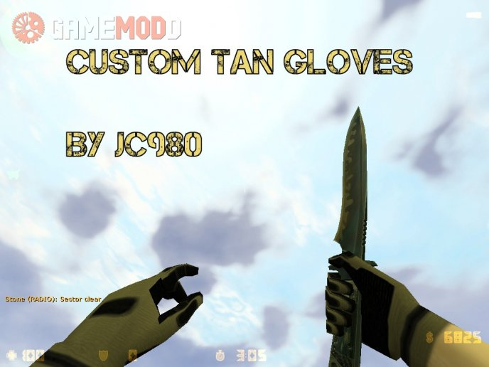 Custom Tan Gloves