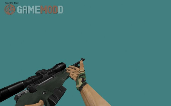 Hands - jungle camo with ''naked'' fingers
