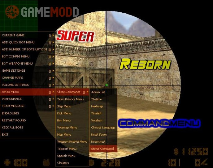 Super Reborn Command Menu