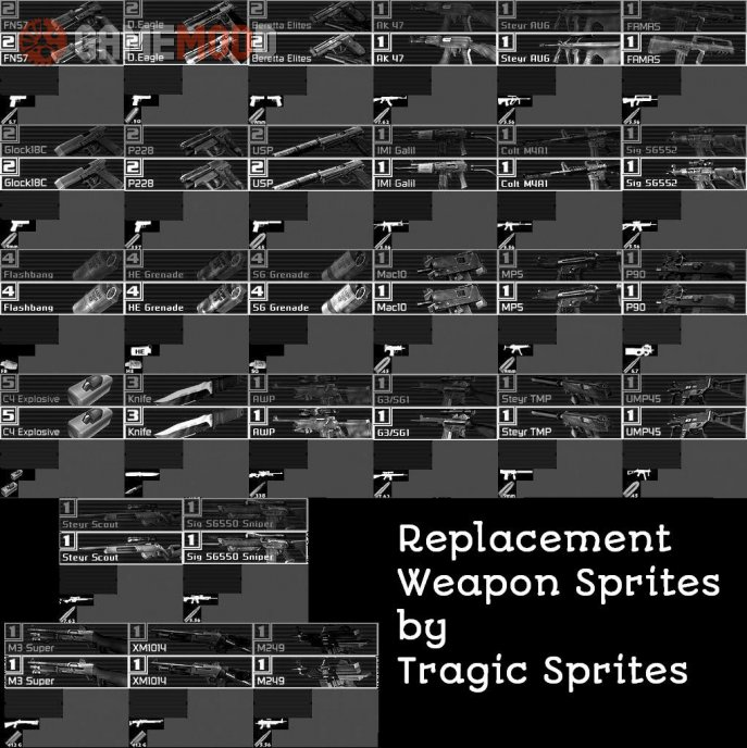 Replacement Weapon Sprites #1