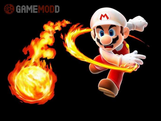 Mario Fire Ball HD Menu Backround