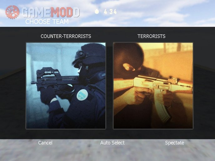 CS GO's Team Menu For CS 1.6