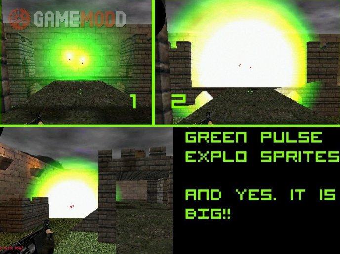 Green pulse explosion sprite