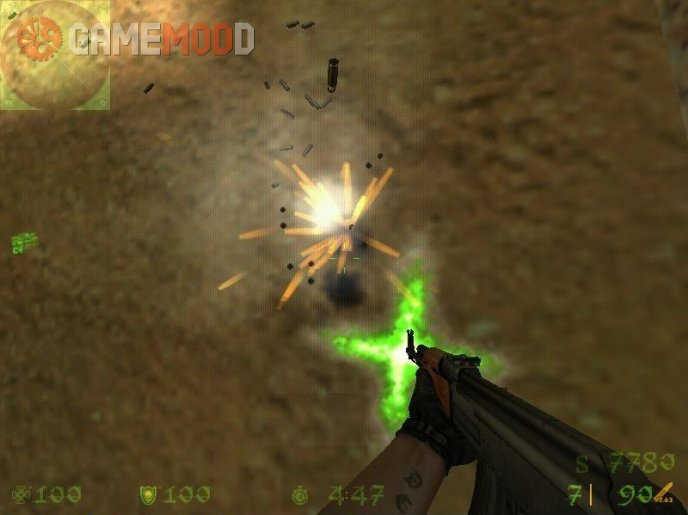 Green Muzzle Flash