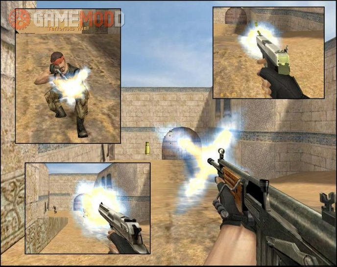 Blue-Yellow Muzzle Flash