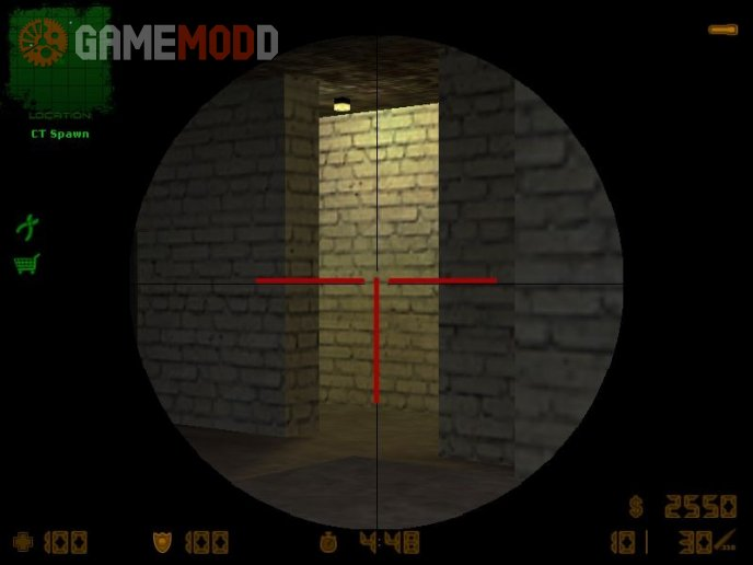 Red CoD scope for AWP